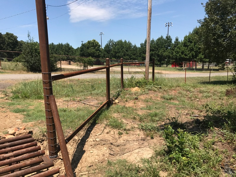 Fencing installed around Outdoor Learning Center